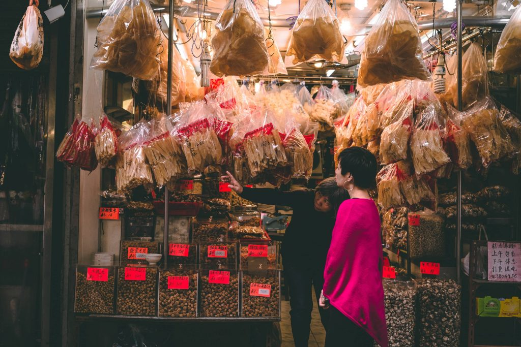 Une échoppe chinoise à Hong-Kong
