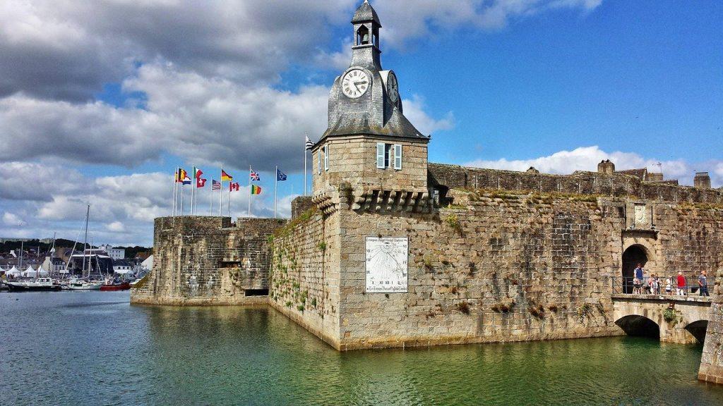 le château de Concarneau dans le Finistère